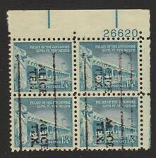 US #1031A Precancel Alice Texas Plate block 4 used 1960 Palace Governor Santa Fe