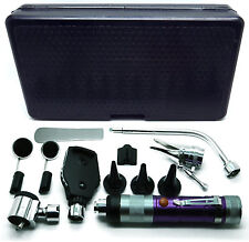 Purple Ent Otoscope Ophthalmoscope Nasal Speculum Depressor Mirrors Set Of 11