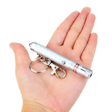 Silver 532nm Ultra Green Laser Pointer Presentation Pen Beam Light Key Chain Luz