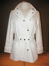 Witte katoenen overslagjas met ceintuur van Jackpot NIEUW Cotton coat with belt