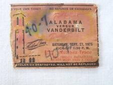 VINTAGE 1975 ALABAMA VS VANDERBILT FOOTBALL TICKET STUB