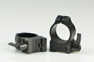 Warne Maxima Scope Rings for CZ 527 1 Inch Medium Quick Detach Matte 1B1LM
