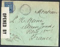 HAITI OLD  LETTER WITH CENSORSHIP DESTINATION PARIS YEAR 1918