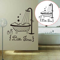 KE_ Bubble Time Shower Bath Wall Decal Bathroom DIY Sticker Mural Decor Sanwoo