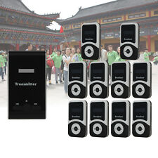Tourism Wireless Tour Guide System Transmitter+10pcs 900mA Receiver for Teaching