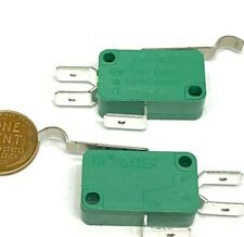 2 Pieces Limit Switch 28mm Lever Green Kw1 103 Spdt Micro 3pin Long E5