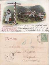 Alte Ansichtskarte Gruss aus Lauterbach -Wegweiser Schramberg-Lauterbach