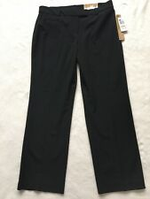 JM Collection Curvier Fit Magic Pants Black Pants Trousers Women's Size 12P