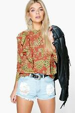 Ruffle Casual Floral Tops & Blouses for Women