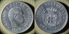 Portuguese Colony : India 1903 1 Rupia  XF/AU  Cleaned  #17  IR5971