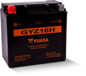 YUASA GYZ16H BATTERY HIGH PERFORMANCE MAINTENANCE FREE