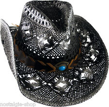 Cowboy Hat Straw Hat Tex Mex Western Has Country Hat Trapper Cap color: antique