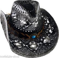 Cowboy Hut Strohhut Tex Mex Western Hat Country Mütze Trapper Cap Farbe: antik