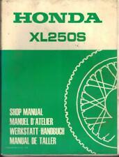 HONDA XL250 S,TRAIL BIKE 1978 ORIGINAL FACTORY WORKSHOP MANUAL