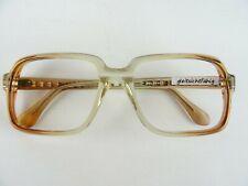 """Oldschool Vintagebrille Herren """"Kassenbrille"""" eckige Form hellbraun Gr. L 54-20"""