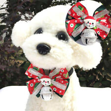 Christmas Pet  Bowtie&Bow Tie Puppy Dog Cat Adjustable Dog Collar Pet Supplies