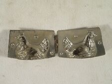 Vintage Metal Tin Chocolate Candy Mold ~ Small ~ Hen Chicken in a Basket