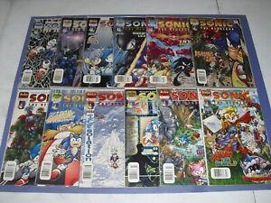 Lot 12 Sonic the Hedgehog run 95 97 99 103 104 106-112 newsstand low/ mid grade
