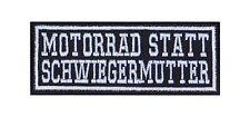 Motorrad Statt Schwiegermutter Patch Aufnäher Biker Heavy Rocker Bügelbild Kutte