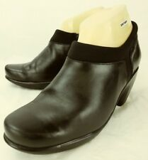 Naot Womens Shoes US 7 EU 38 Black Leather Textile Zip Clogs Heels Shooties 5161