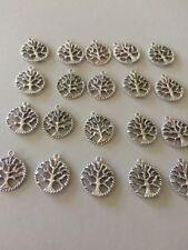 20 Paquete a granel grande árbol de la vida encantos colgante plata tibetana 20 mm Pagano Wicca