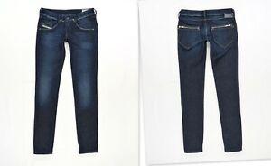 DIESEL CLUSH 008FC Slim Fit Skinny Leg Dark Blue Stretch Women's Jeans W27 L32