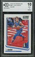 2018-19 panini chronicles score LUKA DONCIC rookie BGS BCCG 10