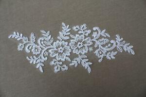 10 pcs White tule Lace/Ribbon/Trim Applique Wedding Dress decoration decoration