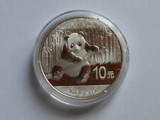 CHINA 2014  10 YUAN  1 OZ SILVER 999 PANDA - BÄR in ORIGINAL Kapsel   in  STGL .