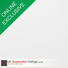 Easy clean suspendu les dalles de plafond x8, white vinyl 595x595mm square edge 600x600