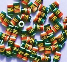 Regenbogen Farben,Peace Ethno Inka 25 Keramik Perlen Peru 6 mm Walze Zylinder