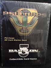 "BABYLON 5 ""PSI CORPS"" (60) Card Starter Deck FACTORY SEALED CCG"