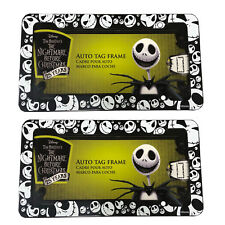 2 Disney Nightmare Before Christmas Jack Skelington Plastic License Plate frame