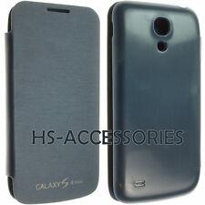 Para Samsung Galaxy S4 Mini i9195 cuero duro caso de puerta trasera Batería Abatible Billetera