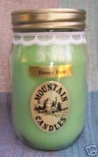 16 oz. Honey Dew Fruit Scented Jar Candle - Paraffin Wax - Handmade in NC, USA