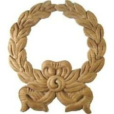 OAK WOOD CARVINGS LAUEL WREATH   W35702