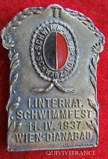 MED2251 - MEDAILLE SCHWARZ ROT SCHWIMM KUL 1937 WIEN AUTRICHE NATATION - MEDAL