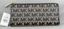 Genuine Michael Kors Jet Set Large Wallet - Beige/Black - BNWT from USA