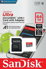 SanDisk Ultra 64GB Micro SD Memory Card Class 10 SDXC 80MB/s Adapter UHS-I UK