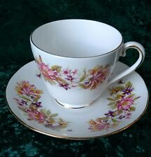 Vintage Colclough Wayside Tea Set Cup & Saucer 8581 Honeysuckle Rose VGC