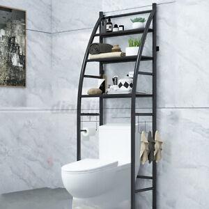 3-Tier Over The Toilet Storage Bathroom Towel Rack Shelf Spacesaver Organizer US