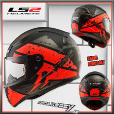 CASCO MOTO INTEGRALE TOURING LS2 RAPID DEADBOLT MATT BLACK ORANGE TG. S (55-56)
