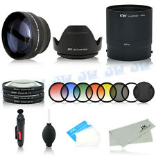 Tele Lens & UV CPL Graduated Colour Filters Kit for Nikon Coolpix P510 P520 P530