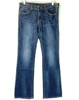 Cache Size 4 Jeans Gold Studded Boot Cut Womens Denim Embellished