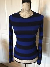 NWT Ladies Areopostale Prince & Fox Blue Striped Shirt Small