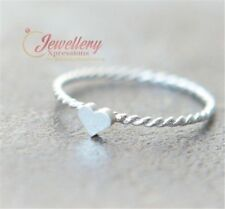 White Gold Plated Heart Twist Band Ring R115