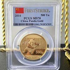 2014 China 500 Yn Panda Gold Coin 1OZ MS-70 PCGS First Strike