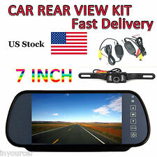 """7"""" LCD TFT Color Screen Car Reverse Rear View Backup Camera with Mirror Monitor"""