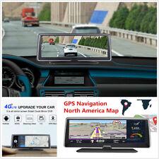 """7.84"""" 4G ADAS Android 5.1 Dual Lens WiFi Car DVR Recorder GPS Navigation DashCam"""
