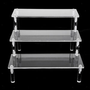 Minimalism Acrylic Display Stand Riser for Jewelry Storage, (Color Clear)